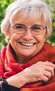 Senior woman with healthy smile