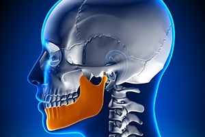 An image of the jaw joint.