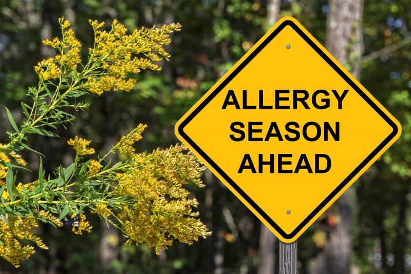 Allergy Season Ahead sign